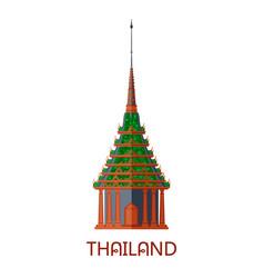 Emerald buddhist wat temple in bangkok thailand vector