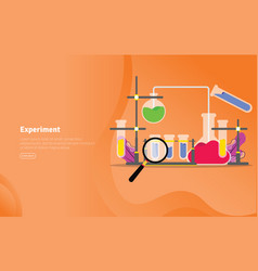 experiment concept educational and scientific vector image