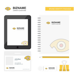 eye business logo tab app diary pvc employee card vector image