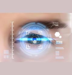 Eye retina scanning recognition system biometric vector