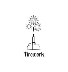 Firework company logo vector