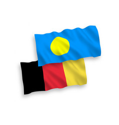 Flags belgium and palau on a white background vector