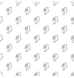 foot care pattern seamless vector image