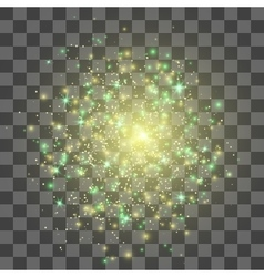 Glow light effect gold explosion vector