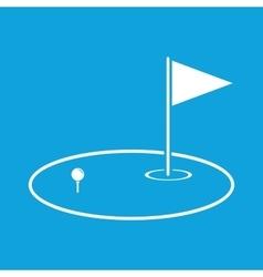 Golf area icon simple vector image