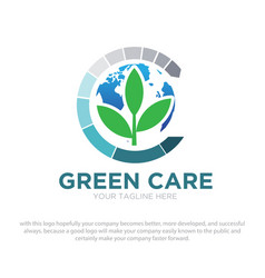 green logo vector image