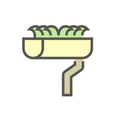 Gutter dirty icon vector