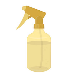 hairdresser water spray gold plastic bottle vector image