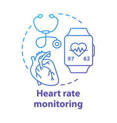 heart rate monitoring tools concept icon vector image