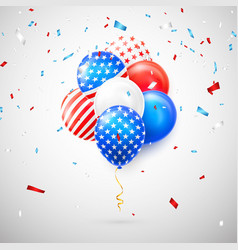 helium balloons with american flag isolate vector image