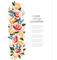 Holiday background with beautiful flowers and vector