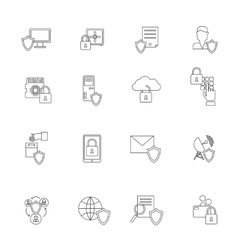 Information Security Icon Outline vector