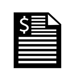 invoice bill icon vector image
