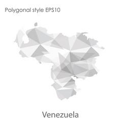 Isolated icon venezuela map polygonal vector