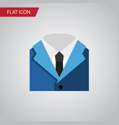 Isolated shirt flat icon suit element can vector