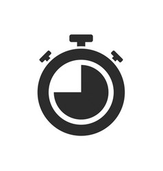 isolated stopwatch icon quarter to on a white vector image