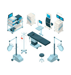 isometric of medical equipment in vector image