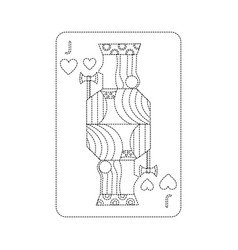 jack of hearts french playing cards related icon vector image