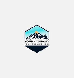 landscape and environmental logo mountain logo vector image