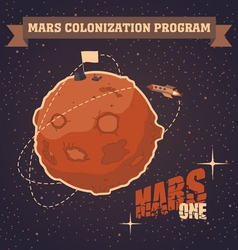 Mars colonization program vector image