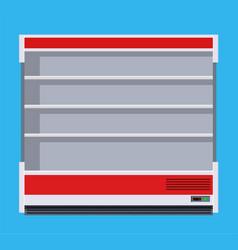 Modern commercial fridge vector