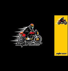 motorcycle riders esport logo icon vector image