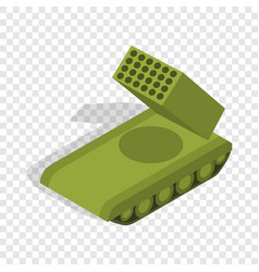 multiple launch rocket system isometric icon vector image