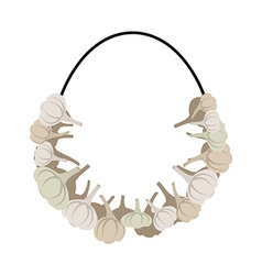 Necklace of garlic Beads against vampire garlic vector