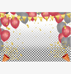 Party cracker with confetti and streamer on vector