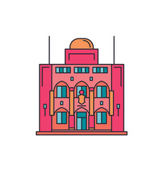 presidential palace icon cartoon style vector image