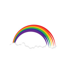 rainbow beauty icon template vector image