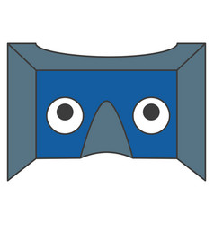Reality virtual mask technology vector