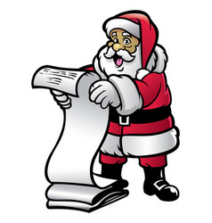 santa claud hold the letter vector image