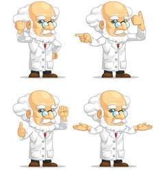 Scientist or Professor Customizable Mascot 12 vector