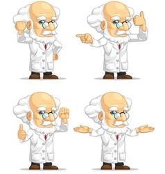 Scientist or Professor Customizable Mascot 12 vector image