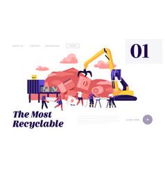 Scrapmetal recycle industry trash reuse website vector