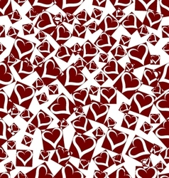 Seamless background hearts vector image vector image