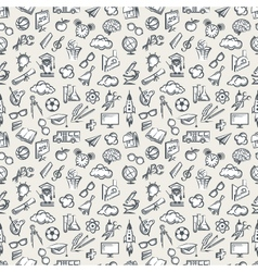 seamless education pattern vector image