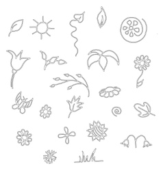 Seamless floral spring doodle pattern vector