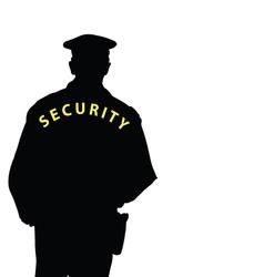 security man color vector image