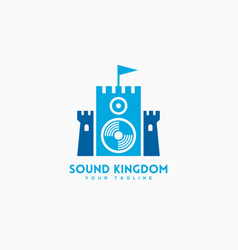 sound kingdom logo vector image