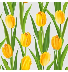 Spring Flower Background - Seamless Pattern vector image