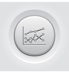 Statistics Icon Grey Button Design vector