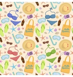 Summer vacation seamless pattern vector