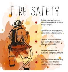 Template of fire safety placard vector image