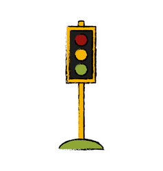 traffic light semaphore vector image