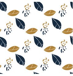 trendy seamless botanical pattern with leaves vector image