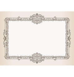 Vintage frame Decorated antique ornaments royal vector image