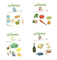 Vitamins set vector