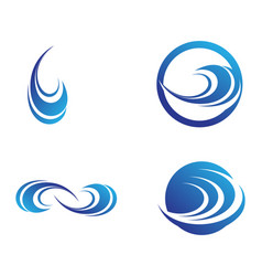 waves beach logo and symbols template icons app vector image